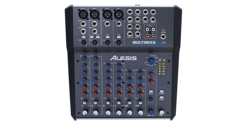 miltimix 8 usb fx alesis mezclador