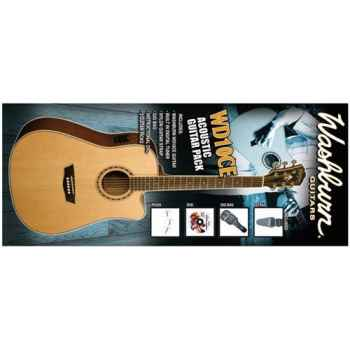 WASHBURN WD10 CE Kit de guitarra acústica tipo dreadnought