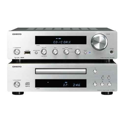 ONKYO PHA-1045 S Micro Cadena Modular 70W sin Altavoces,Silver