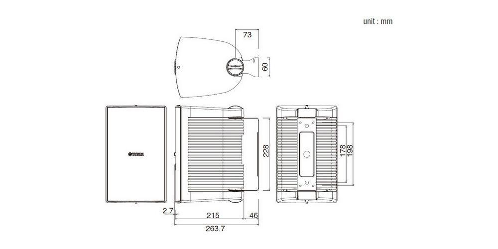 YAMAHA NS-AW 294 Blanco Altavoces Exterior  PAREJA
