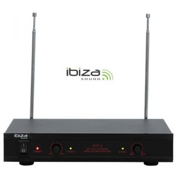 IBIZA SOUND VHF2H, Microfono Inalambrico Doble Mano - Diadena
