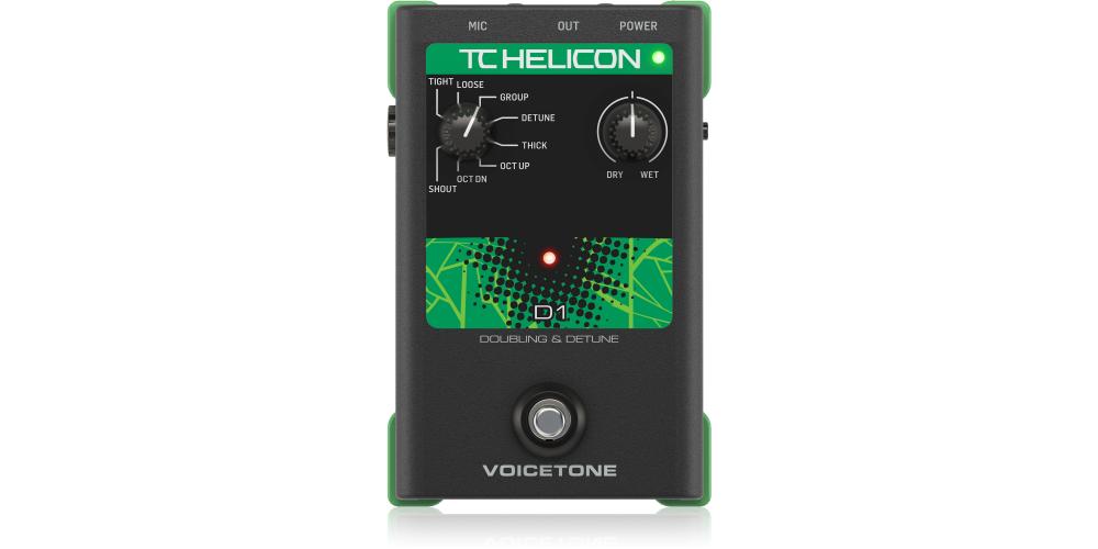 tc helicon voicetone d1 pedal efectos vocal