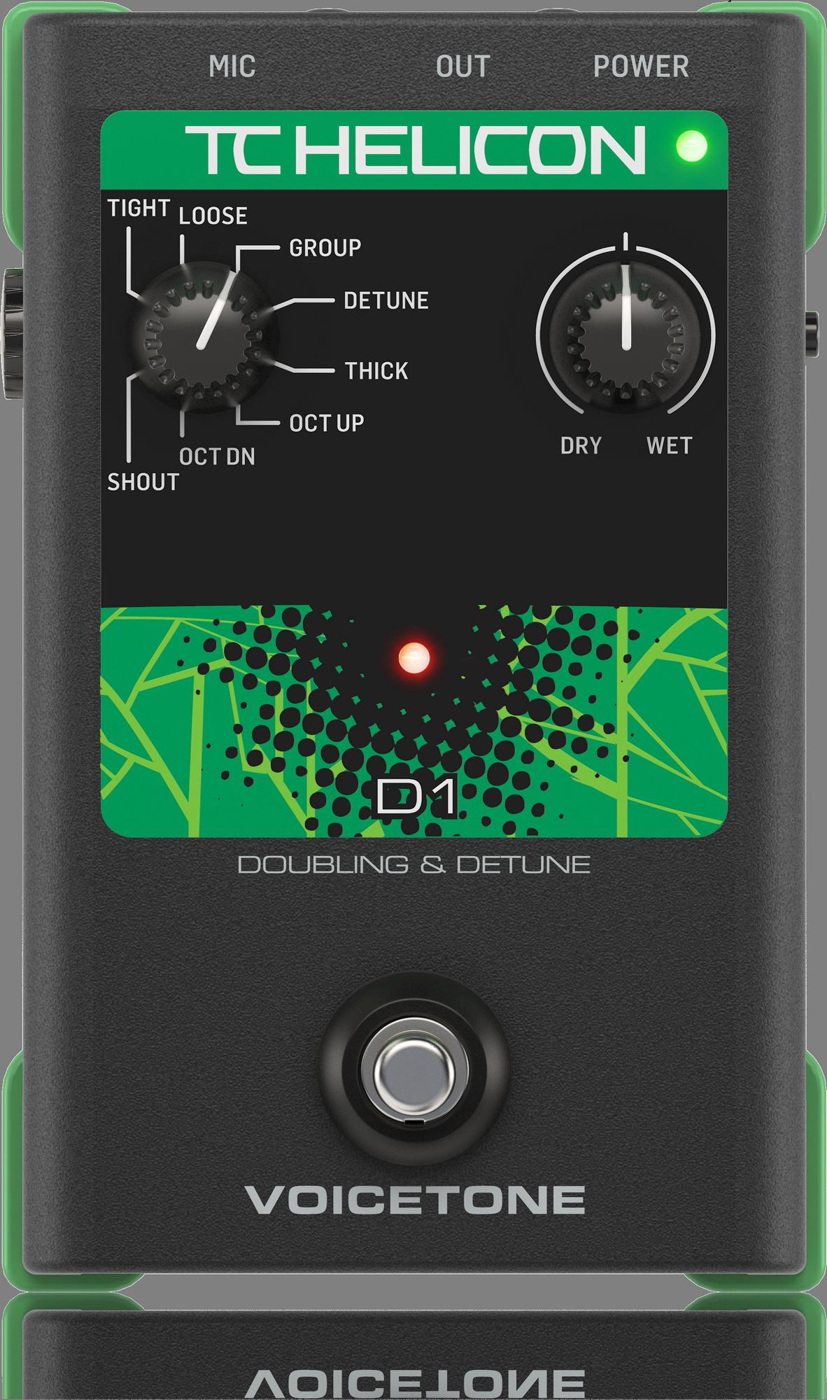 TC Helicon VoiceTone D1 Doubling, Pedal de Efectos para Voz -