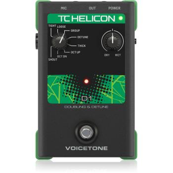 TC Helicon VoiceTone D1 Doubling, Pedal de Efectos para Voz que aplica efectos de doblaje.