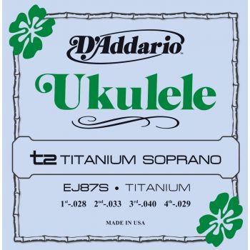 D Addario EJ-87 S Soprano Tita Cuerda ukelele Soprano