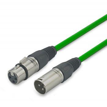 Audibax Silver Cable XLR macho - XLR Hembra 6 Metros Verde