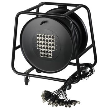 Adam Hall Cables  K 32 C 50 D Manguera de Cable en Enrollador con Cajetín de Escenario 24/8 50 m