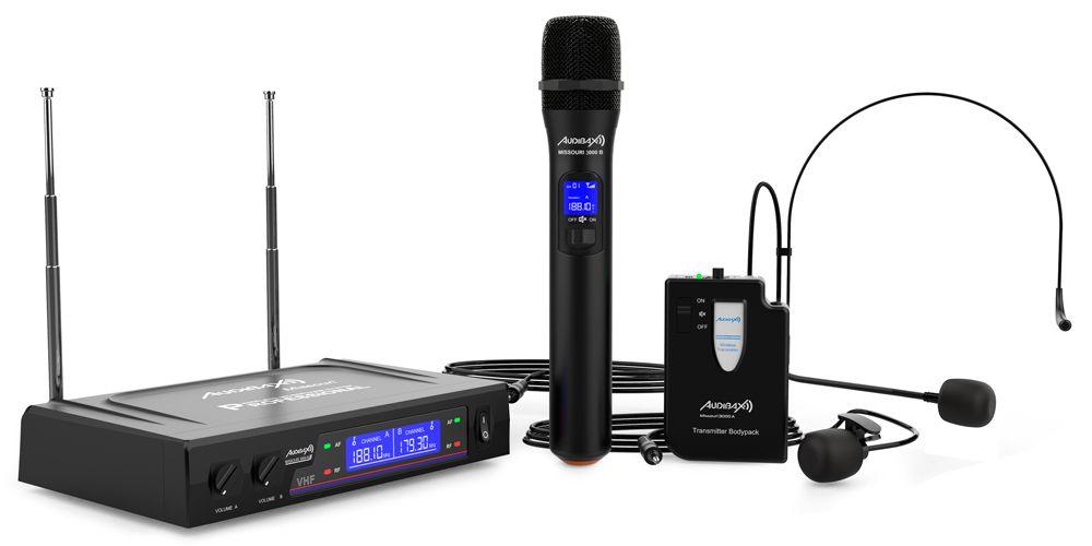 audibax missouri 3000 microfono inalambrico mano diadema corbata accesorios
