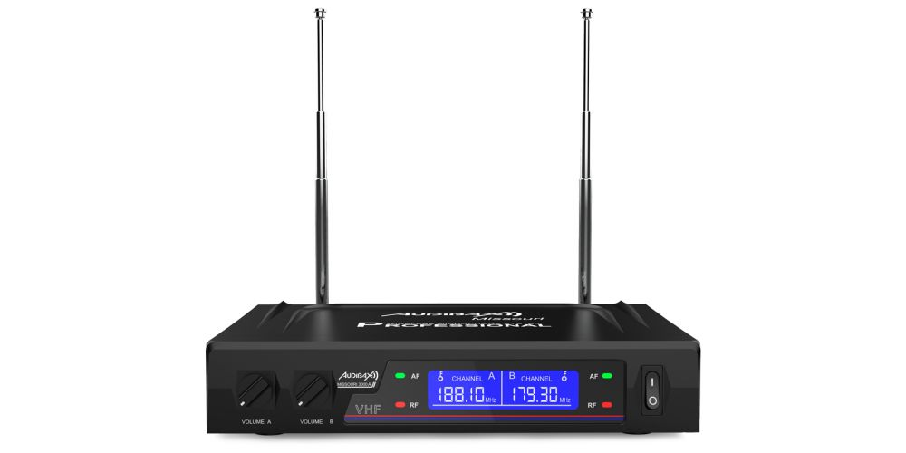 audibax missouri 3000 microfono inalambrico mano diadema corbata receptor