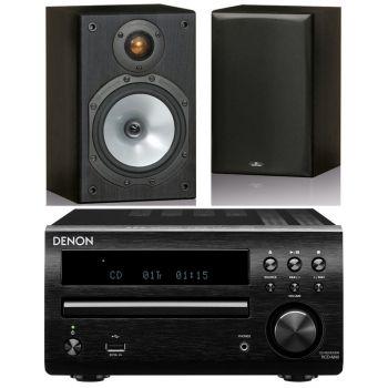 DENON RCDM-41 Black+Monitor Audio MR1 Black