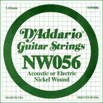 D´addario NW056 Cuerda Suelta para Guitarra Eléctrica