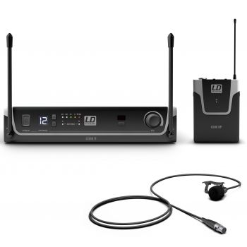 LD Systems U308 BPL Sistema inalámbrico con Petaca y Micrófono Lavalier