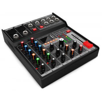 Audibax MG05 XU Mezclador de 5 Canales con Interfaz de Audio USB