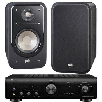Denon PMA-800AE Black+Polk Audio S20E Sistema 800/ S20E SCD Conjunto Audio