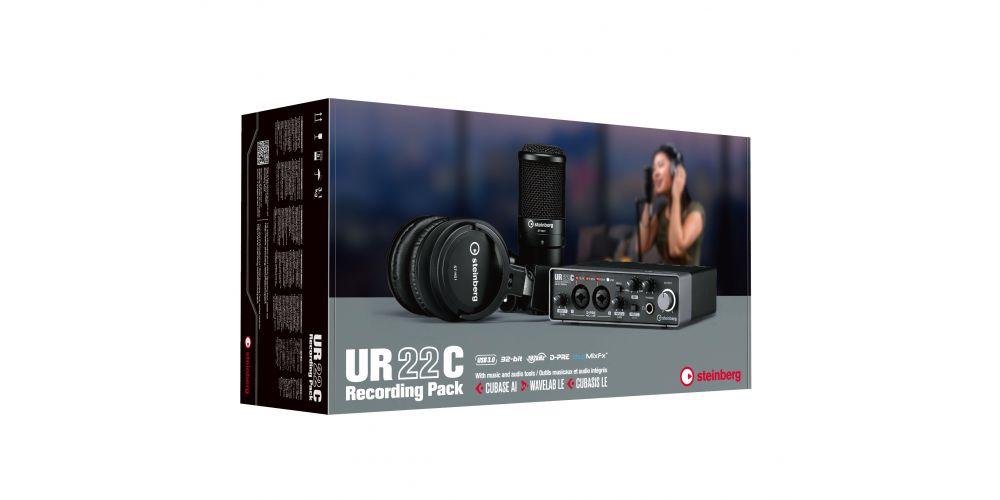 steinberg ur22c recording pack caja