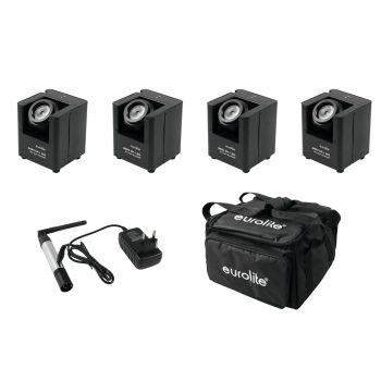 Eurolite Set 4 x AKKU UP-1 + SB-4 Soft-Bag + QuickDMX Wireless Transmitter