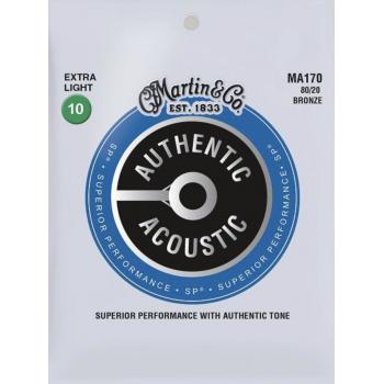 Martin MA170 Cuerdas Guitarra Acústica Authentic Sp Bronze 80/20 Extra Light 10-47