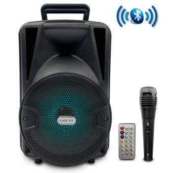 Lige F4 Altavoz Party 8 LED HiFi Bluetooth Karaoke 8
