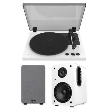 Equipo HiFi TEAC TN-175 White Giradiscos Con Previo Phono +Wiibo Neo 100 White Altavoces Activos Bluetooth