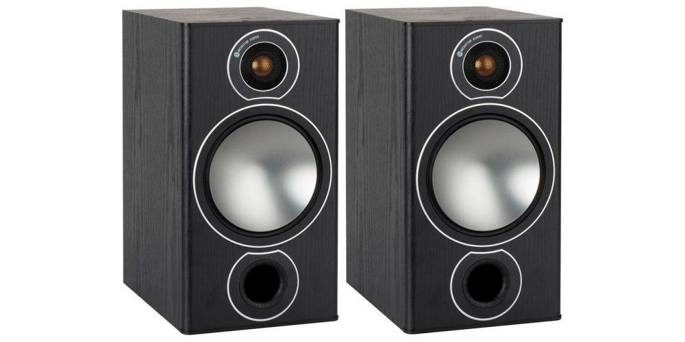 monitor audio bronze 2 par de bafles de estante black