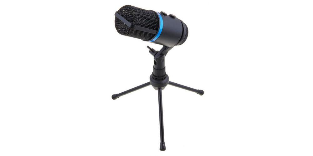 ik multimedia irig mic studio black tripode