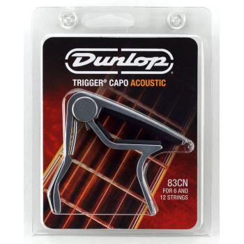Dunlop Trigger Cejilla para Guitarra Acústica Curva Níquel 83CN