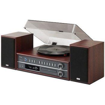TEAC MCD800 Tocadiscos CD Vintage Estéreo con Plato Bluetooth. Color Cerezo