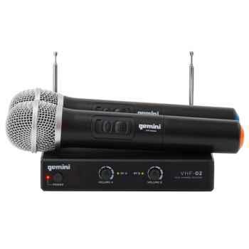 GEMINI VHF-02M S2/6 Microfono Inalambrico Doble Mano