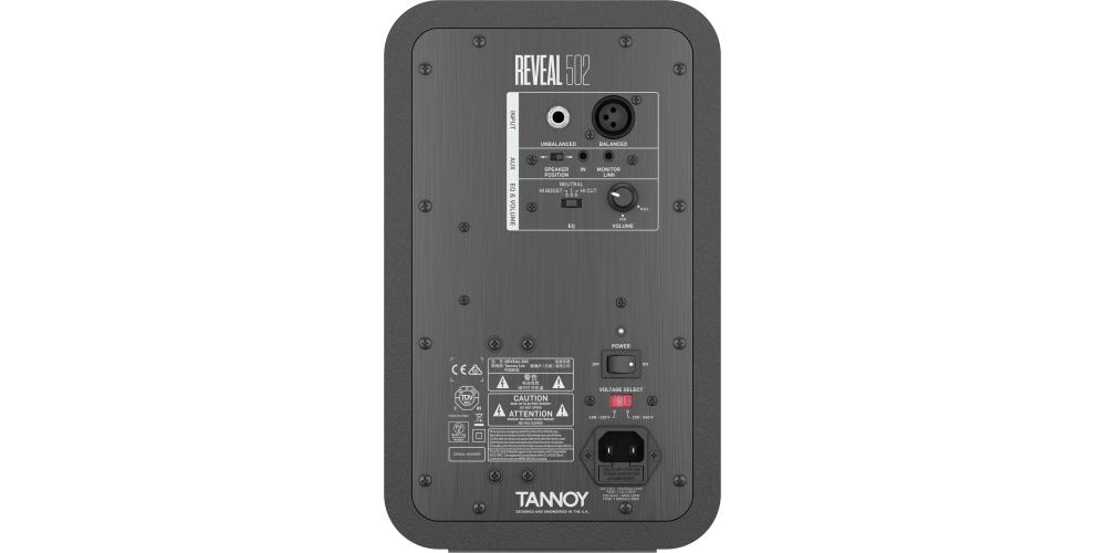 TANNOY REVEAL 502 MONITOR ACTIVO CONEXIONES