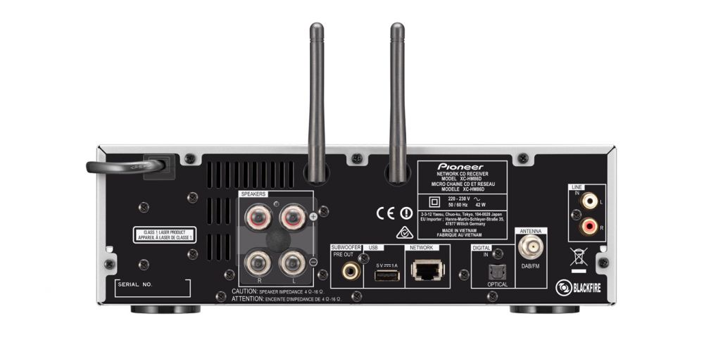pioneer x hm86d black minicadena wifi conexiones