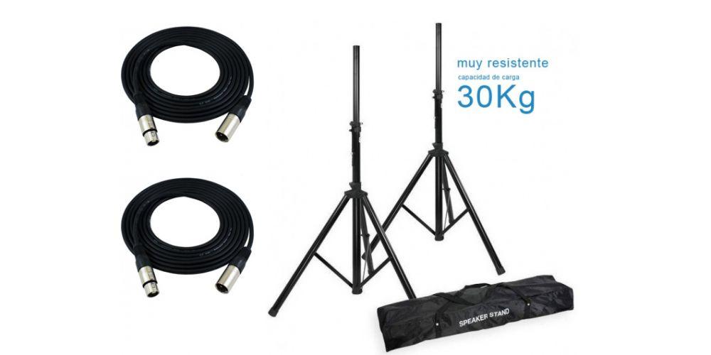 comprar soportes altavoz con cables oferta