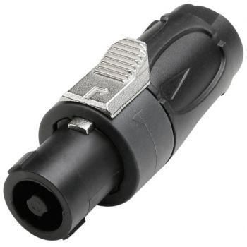 Adam Hall  7902 Conector de altavoz estándar 4 polos negro / gris oscuro