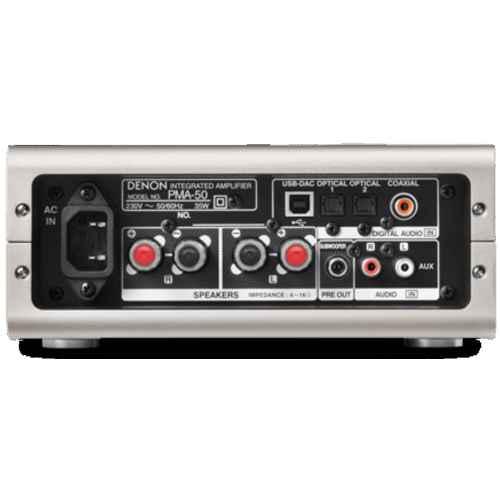 Denon PMA50 hifi amplificador conexiones