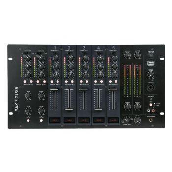DAP Audio IMIX-7.2 USB Mezclador DJ de Instalación con 2 Zonas