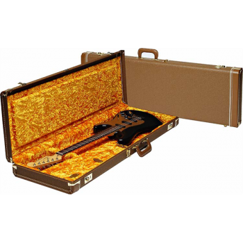Fender G&G Deluxe Strat®/Tele® Hardshell Estuche Marron y dorado
