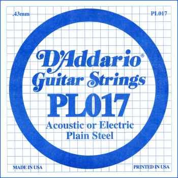 D´addario PL017 Cuerda Suelta para Guitarra Eléctrica y Acústica