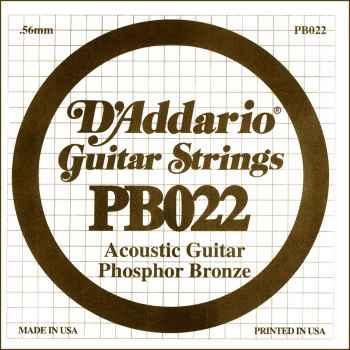 D´addario PB022 Cuerda Suelta para Guitarra Acústica