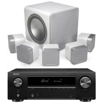 DENON AVR-X550 BT+Cambridge MINX 12 White Cinema Pack Sub