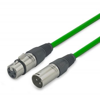 Audibax Silver Cable XLR macho - XLR Hembra 20 Metros Verde
