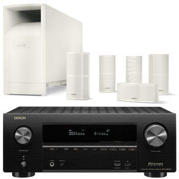 Denon AVR-X2600+Bose AM10V White Cinema Pack 5.1 Conjunto AV