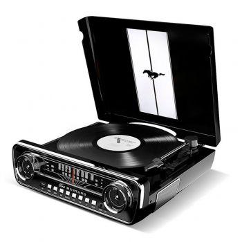 Ion Audio Mustang LP Negro Giradiscos Radio Altavoz Bluetooth Vintage