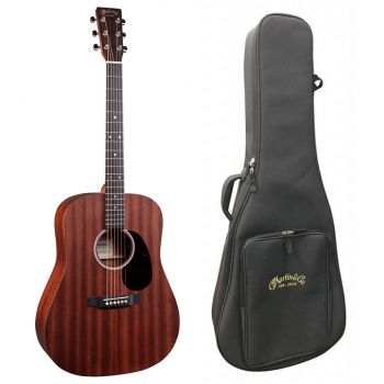 Martin D-10E-SAPELE Guitarra Electro-Acustica con Funda