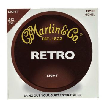 Martin MM12 Cuerdas Guitarra Acústica Retro Monel Light 12-54