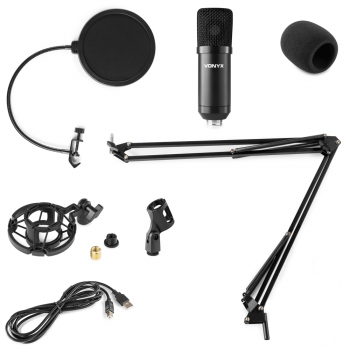 VONYX CMS300B Micrófono de Estudio set USB Negro 173512