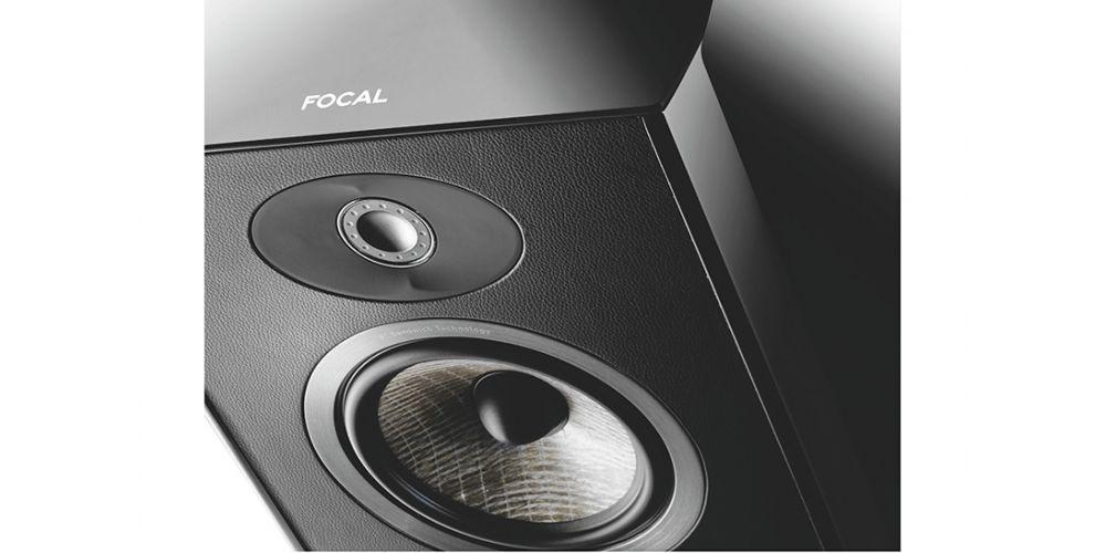 focal aria 948 negro altavoz 3 vias bass reflex detalle tweeter