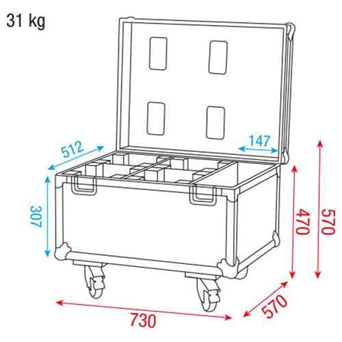 dap audio case for 4x beacon d7036 picture
