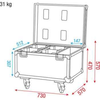 Dap Audio Case for 4x Beacon D7036