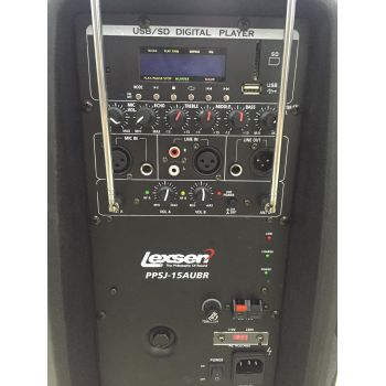 Lexsen PPSJ15AUBR Altavoz Portail Bluetooth MP3/USB 15