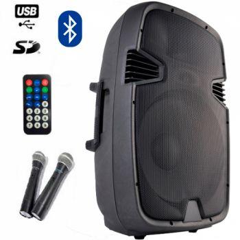 "Lexsen PPSJ15AUBR Altavoz Portail Bluetooth MP3/USB 15"" + 2 Micros VHF ( REACONDICIONADO )"