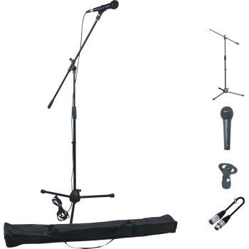 Audibax Kit Microfono + Soporte + Pinza + Cable 6m + Bolsa